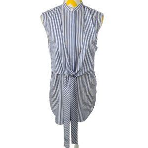 Helmut Lang Apron Panel Button Sleeveless Shirt